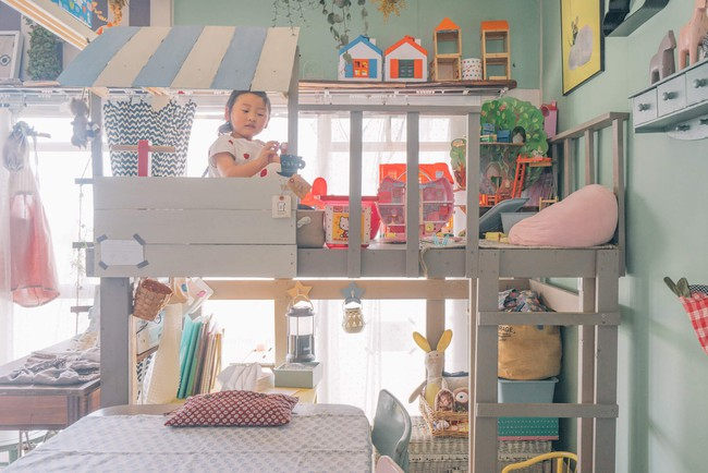Căn hộ tràn ngập sắc màu hạnh phúc, góc nào cũng vô cùng đặc biệt của bà mẹ đơn thân với 2 con nhỏ ở Tokyo, Nhật Bản - Ảnh 5.