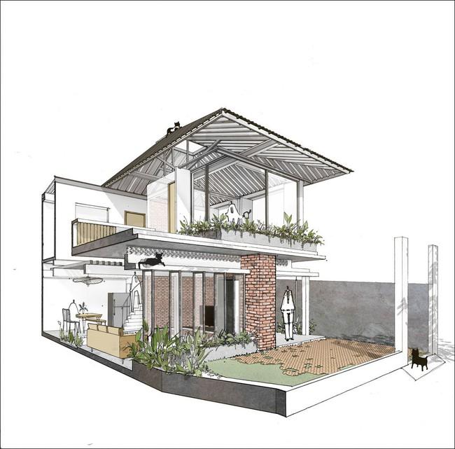 Ngôi nhà cấp 4 hóa biệt thự sân vườn đẹp thuyết phục tại Sài Gòn - Ảnh 2.