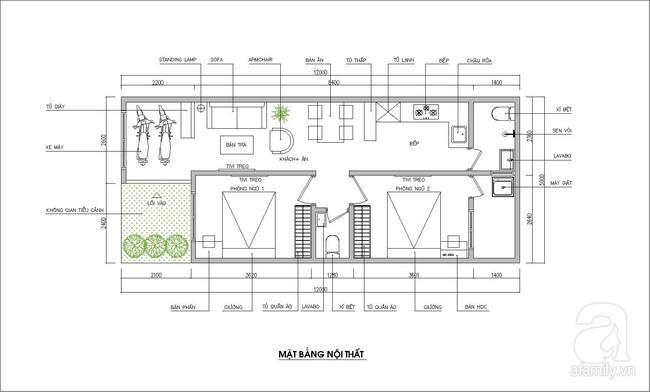 Tư vấn thiết kế nhà cấp 4 đầy đủ tiện nghi, chuyển hướng nhà cho hợp phong thủy trên mảnh đất 60m²  - Ảnh 1.