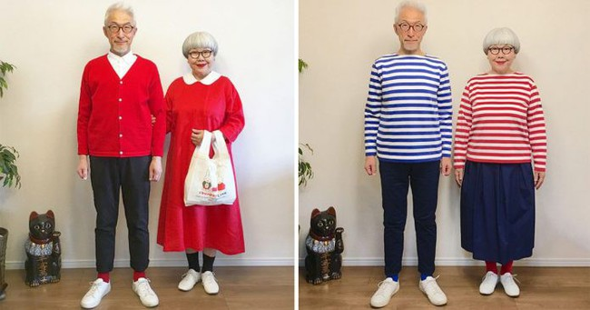 Hạnh phúc chỉ đơn giản vậy thôi: Cặp vợ chồng U70 người Nhật mặc đồ đôi suốt 38 năm khiến dân mạng phát cuồng - Ảnh 1.