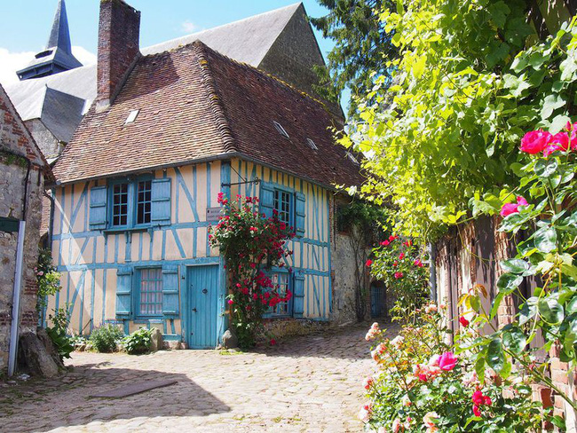 Ngắm những ngôi nhà thơ mộng với giàn hoa đẹp như cổ tích ở làng quê nước Pháp - Ảnh 15.