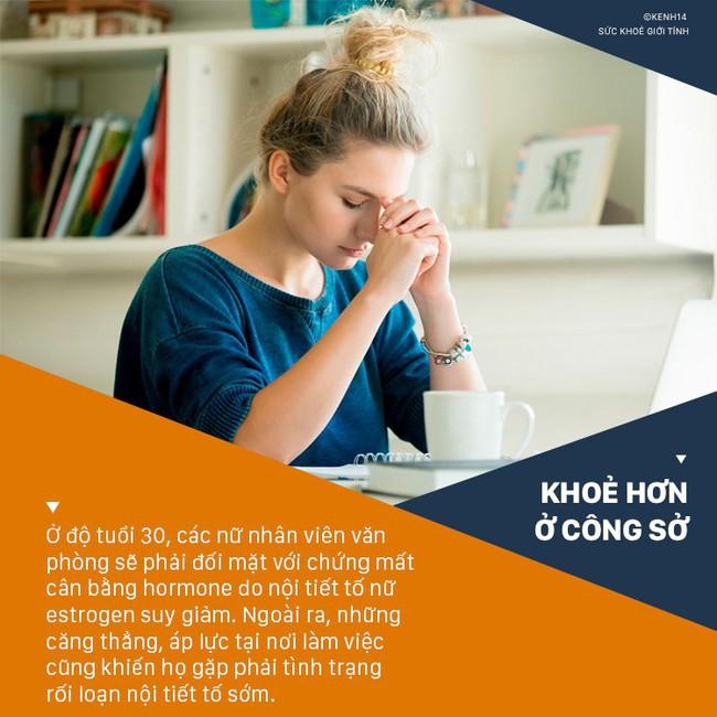 Các nữ nhân viên văn phòng khi bước vào độ tuổi 30 thường có nguy cơ cao mắc chứng rối loạn nội tiết tố - Ảnh 3.