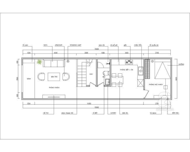 Tư vấn thiết kế nhà ống 2 tầng cho đôi vợ chồng trẻ cùng con gái rượu - Ảnh 1.