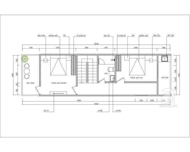 Tư vấn thiết kế nhà ống 2 tầng cho đôi vợ chồng trẻ cùng con gái rượu - Ảnh 2.