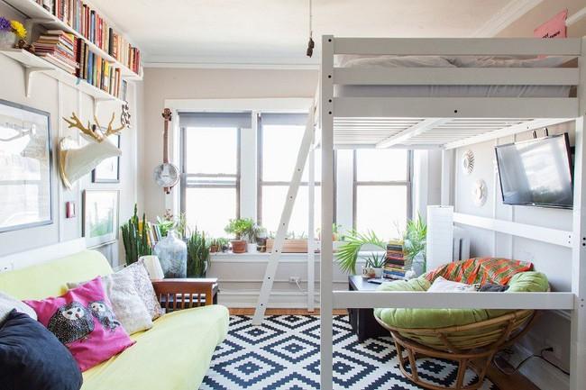 Học lỏm 7 ý tưởng thiết kế giúp tối đa hóa không gian nhà đi thuê hiệu quả - Ảnh 2.