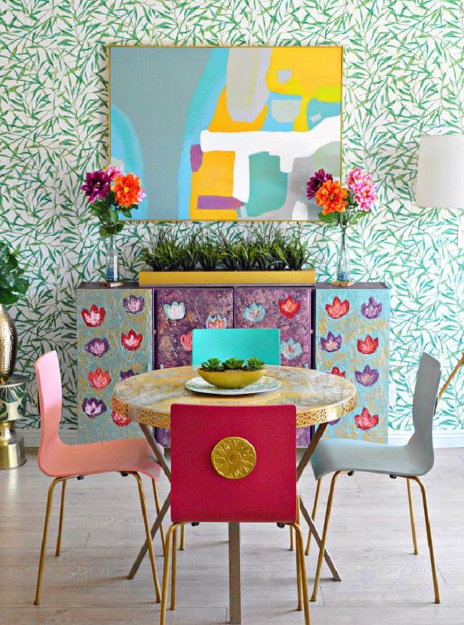 Phòng ăn trong căn nhà đi thuê được cặp vợ chồng sửa lại khiến chủ nhà cũng phải tấm tắc khen ngợi - Ảnh 2.