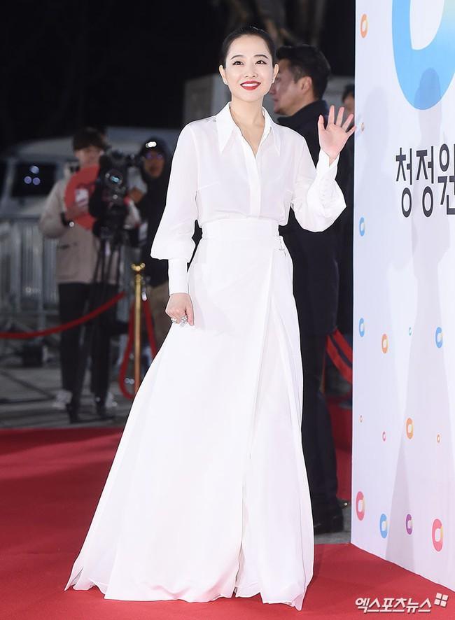 Thảm đỏ Giải Rồng Xanh 2018: Park Bo Young bỗng già chát vì trang điểm đậm, chị đại Kim Hye Soo cực khí chất  - Ảnh 2.