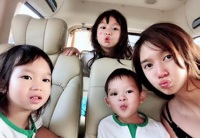 Lý Hải vắng nhà, Minh Hà than một mình chăm 4 con mệt đến mức muốn bất tỉnh nhân sự - Ảnh 2.