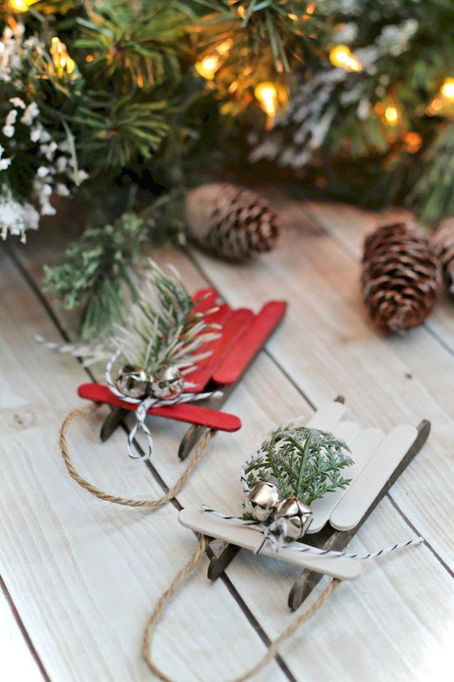 Mách chị em những món đồ handmade dễ thương, dễ làm để trang trí cây thông giúp ngôi nhà rực rỡ ngày Giáng sinh - Ảnh 2.