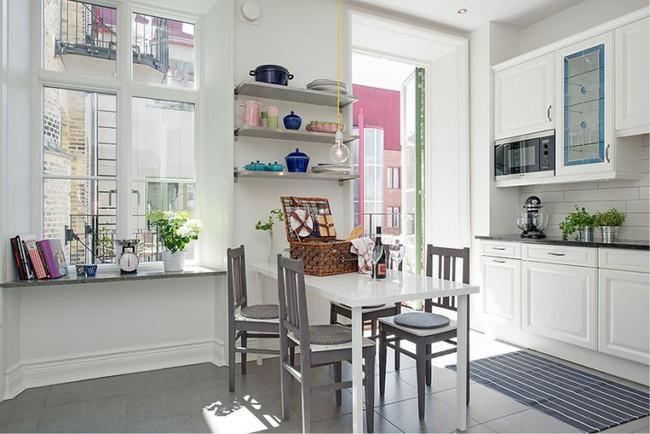 Cách chọn rèm cửa cho nhà bếp kết nối với ban công vừa đẹp vừa thuận tiện đi lại - Ảnh 27.