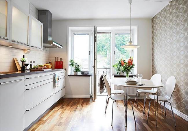 Cách chọn rèm cửa cho nhà bếp kết nối với ban công vừa đẹp vừa thuận tiện đi lại - Ảnh 28.