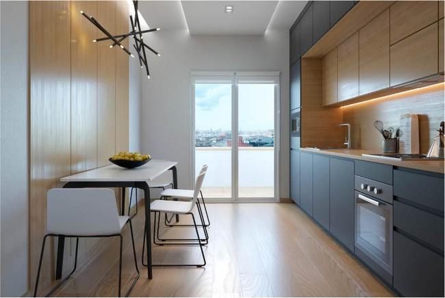 Cách chọn rèm cửa cho nhà bếp kết nối với ban công vừa đẹp vừa thuận tiện đi lại - Ảnh 12.