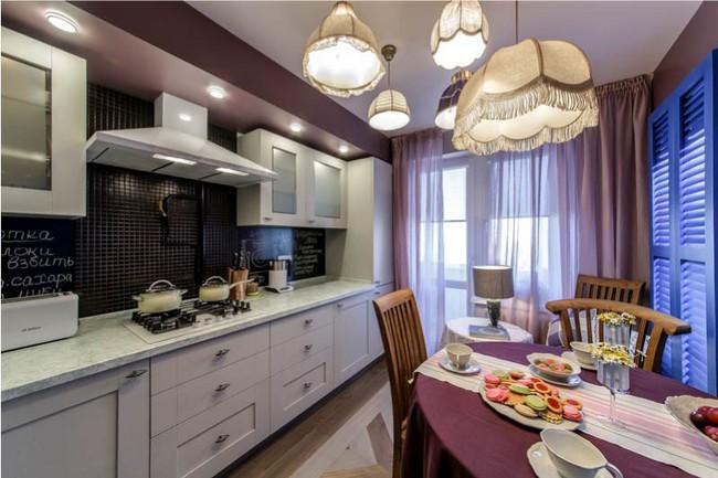 Cách chọn rèm cửa cho nhà bếp kết nối với ban công vừa đẹp vừa thuận tiện đi lại - Ảnh 14.