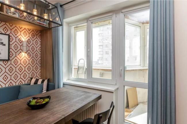 Cách chọn rèm cửa cho nhà bếp kết nối với ban công vừa đẹp vừa thuận tiện đi lại - Ảnh 16.