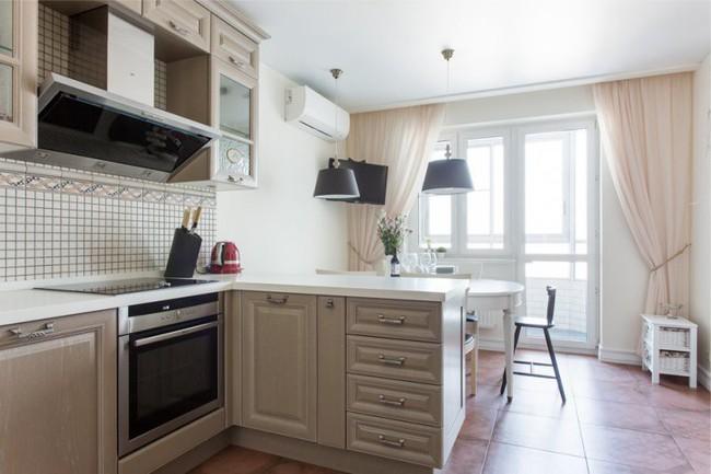 Cách chọn rèm cửa cho nhà bếp kết nối với ban công vừa đẹp vừa thuận tiện đi lại - Ảnh 2.