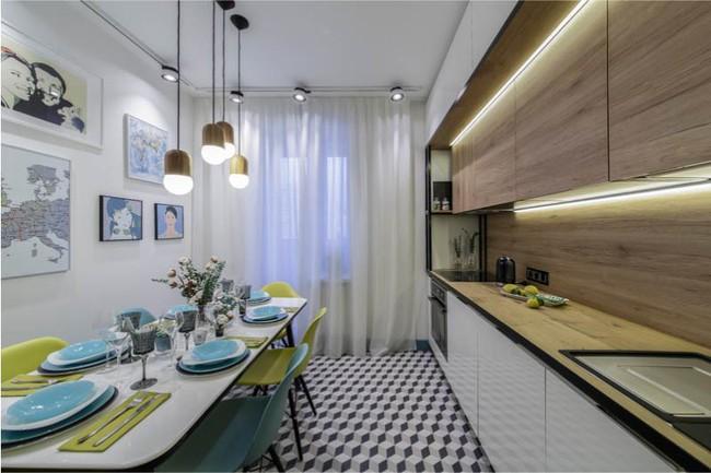 Cách chọn rèm cửa cho nhà bếp kết nối với ban công vừa đẹp vừa thuận tiện đi lại - Ảnh 6.