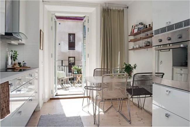 Cách chọn rèm cửa cho nhà bếp kết nối với ban công vừa đẹp vừa thuận tiện đi lại - Ảnh 23.
