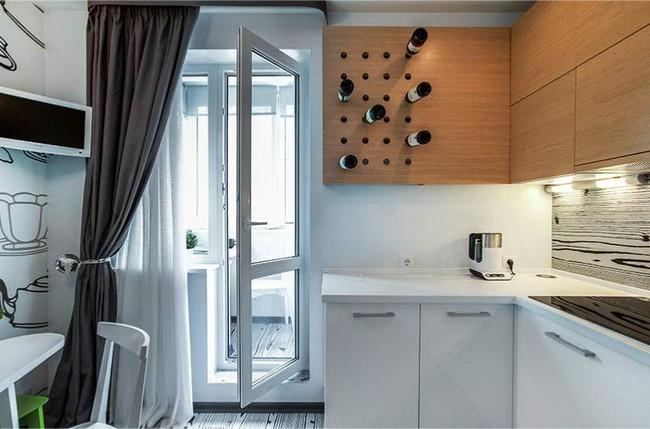 Cách chọn rèm cửa cho nhà bếp kết nối với ban công vừa đẹp vừa thuận tiện đi lại - Ảnh 24.