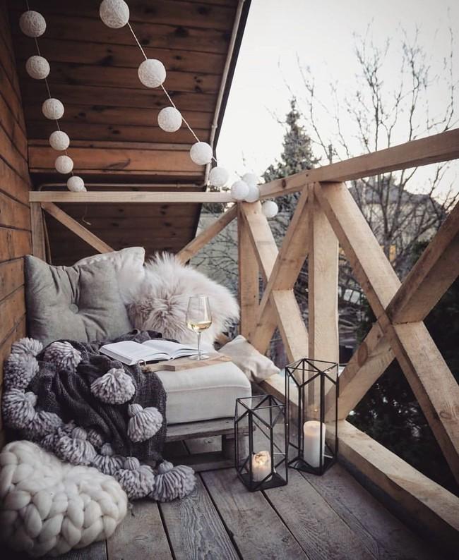 10 ý tưởng trang trí ban công dành riêng cho mùa đông chắc chắn sẽ khiến bạn thích - Ảnh 1.