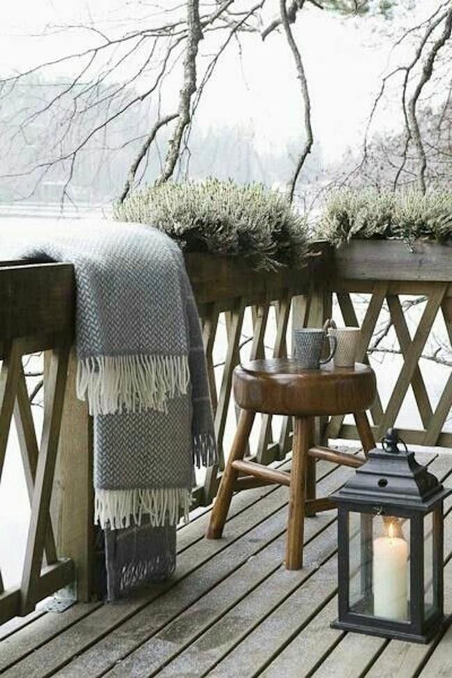 10 ý tưởng trang trí ban công dành riêng cho mùa đông chắc chắn sẽ khiến bạn thích - Ảnh 5.