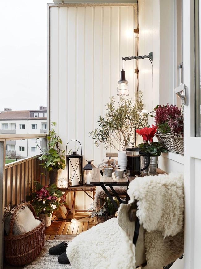 10 ý tưởng trang trí ban công dành riêng cho mùa đông chắc chắn sẽ khiến bạn thích - Ảnh 9.
