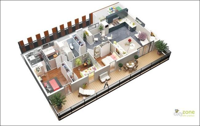 8 thiết kế căn hộ 3 phòng ngủ cực thông minh để đáp ứng nhu cầu sinh hoạt của gia đình nhiều thế hệ - Ảnh 2.