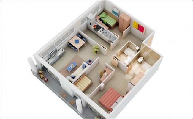 8 thiết kế căn hộ 3 phòng ngủ cực thông minh để đáp ứng nhu cầu sinh hoạt của gia đình nhiều thế hệ - Ảnh 4.