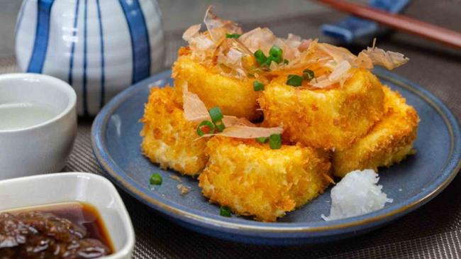 Mua đậu phụ non về và chiên xù theo cách của người Nhật đảm bảo ăn là nghiền - Ảnh 7.
