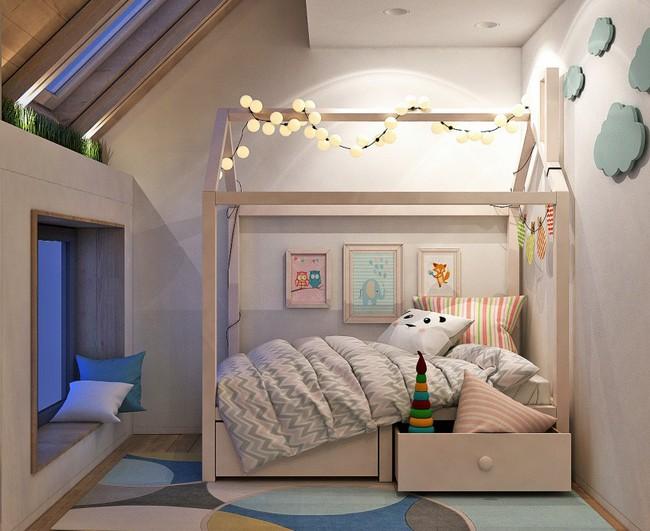 Căn hộ nhỏ này được nhiều người thích thú nhờ kết hợp không gian sống với nơi vui chơi cho con - Ảnh 7.