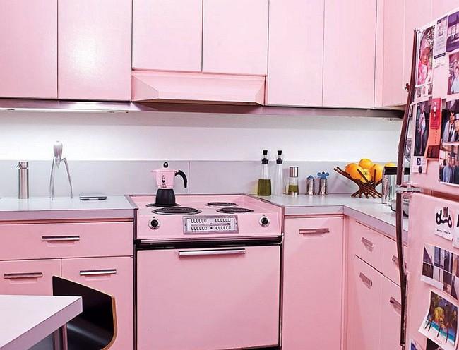 Thử thách với cách trang trí nhà bếp màu hồng, vẻ đẹp ngọt ngào và cá tính cho mùa đông không lạnh - Ảnh 10.
