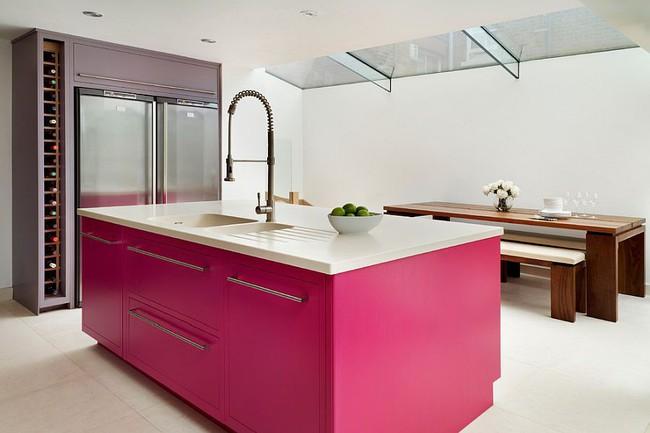 Thử thách với cách trang trí nhà bếp màu hồng, vẻ đẹp ngọt ngào và cá tính cho mùa đông không lạnh - Ảnh 5.