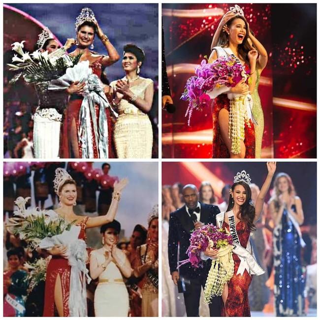 Sự trùng lặp khó tin Miss Universe 2018: Tân Hoa hậu và màn đăng quang cách đây gần 30 năm trước - Ảnh 4.
