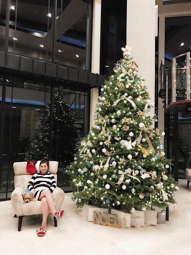 Khoe con trai nhỏ giúp mẹ trang trí thông Noel, bà xã Đan Trường còn tiết lộ món quà dành tặng chị em dịp này - Ảnh 5.