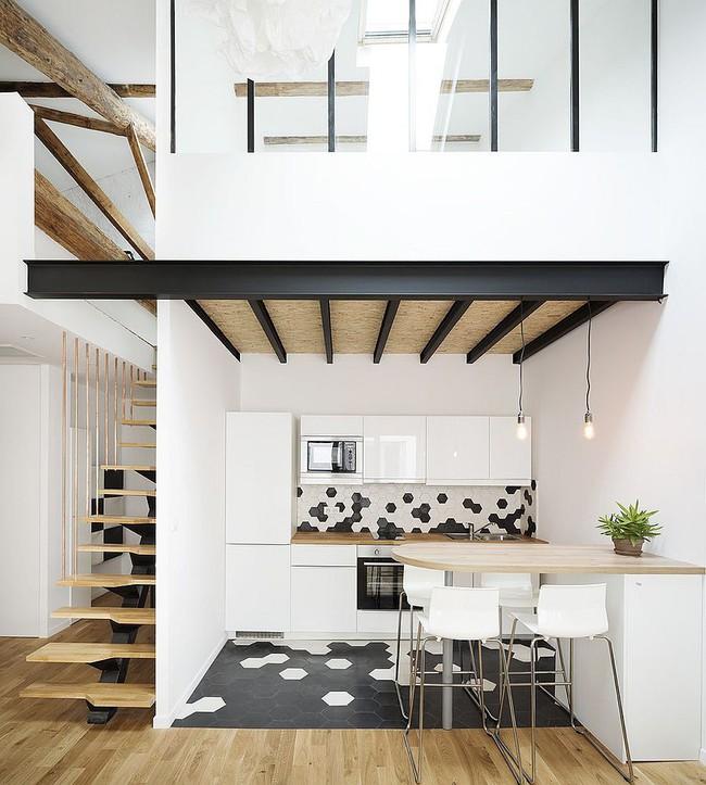 Nhà bếp dưới gác lửng - giải pháp hoàn hảo cho một ngôi nhà cần tiết kiệm không gian tối đa - Ảnh 9.