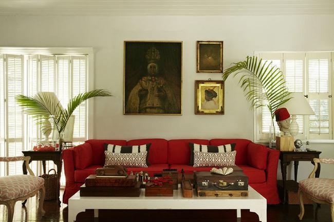 Đừng bỏ lỡ chiếc ghế sofa đỏ cho phòng khách khi mùa lễ hội đã cận kề - Ảnh 8.
