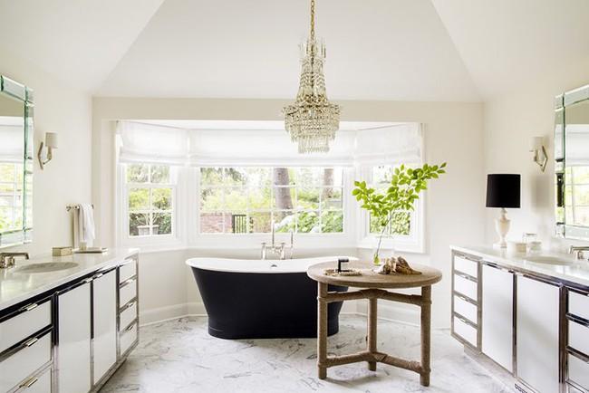 Điểm danh những căn phòng tắm thiết kế bồn rửa tay đôi khiến bạn khó có thể chối từ - Ảnh 8.