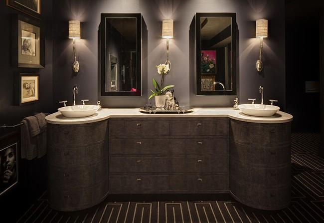 Điểm danh những căn phòng tắm thiết kế bồn rửa tay đôi khiến bạn khó có thể chối từ - Ảnh 9.