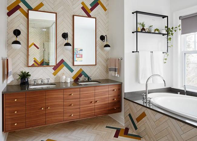 Điểm danh những căn phòng tắm thiết kế bồn rửa tay đôi khiến bạn khó có thể chối từ - Ảnh 10.