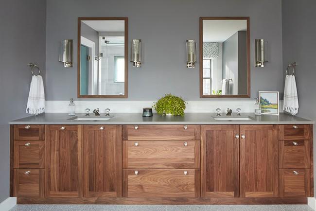 Điểm danh những căn phòng tắm thiết kế bồn rửa tay đôi khiến bạn khó có thể chối từ - Ảnh 13.