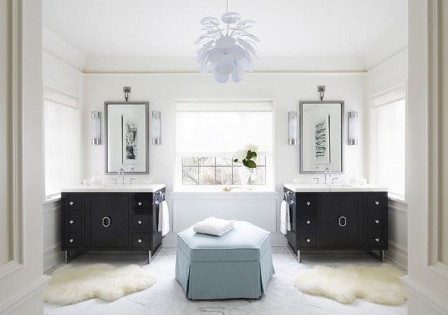 Điểm danh những căn phòng tắm thiết kế bồn rửa tay đôi khiến bạn khó có thể chối từ - Ảnh 14.