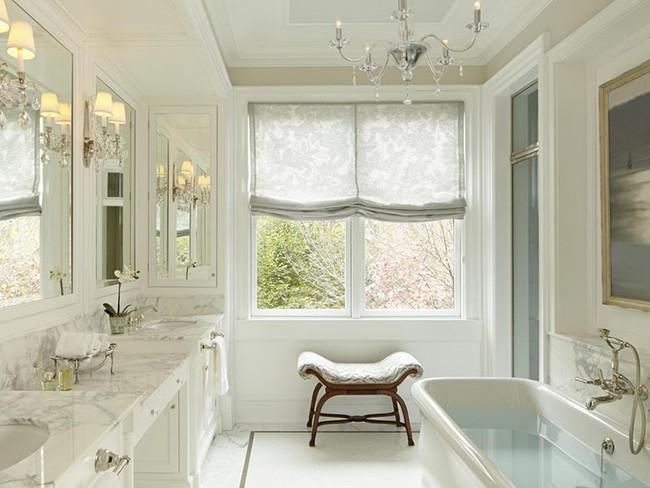 Điểm danh những căn phòng tắm thiết kế bồn rửa tay đôi khiến bạn khó có thể chối từ - Ảnh 2.