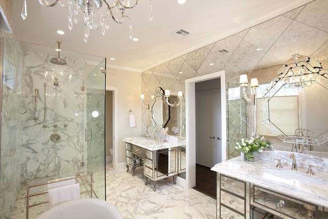 Điểm danh những căn phòng tắm thiết kế bồn rửa tay đôi khiến bạn khó có thể chối từ - Ảnh 7.