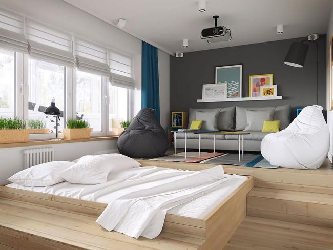 Mê mẩn với thiết kế căn hộ chỉ 34m² nhưng rất đa năng và hiện đại đến từng chi tiết - Ảnh 5.
