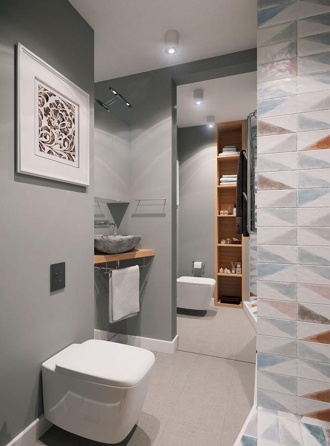 Mê mẩn với thiết kế căn hộ chỉ 34m² nhưng rất đa năng và hiện đại đến từng chi tiết - Ảnh 9.