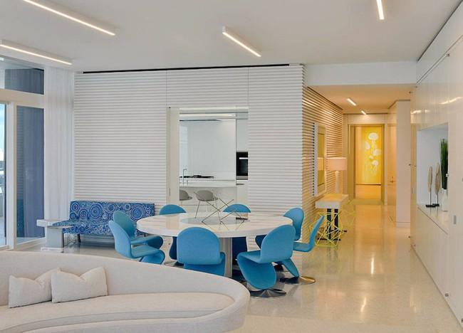 Ấn tượng với căn hộ sử dụng màu sắc để phân biệt các phòng vô cùng hiệu quả  - Ảnh 1.
