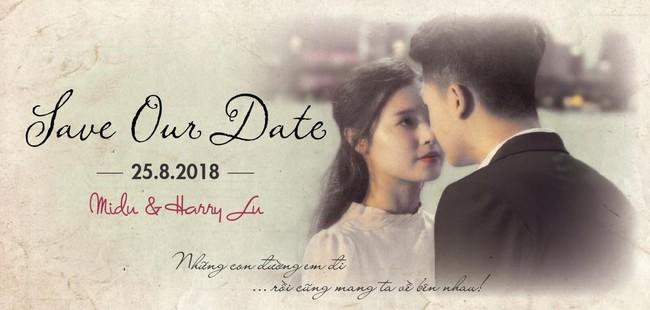 Harry Lu và tình cũ Midu bất ngờ lộ thiệp cưới lãng mạn  - Ảnh 1.