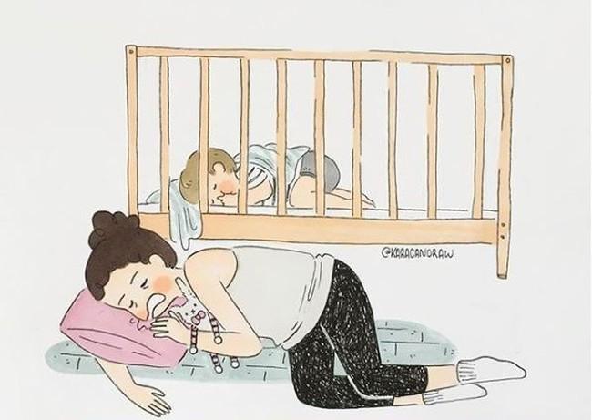 Mẹ nuôi con nhỏ nào cũng thấy mình trong những bức vẽ phác họa khoảnh khắc đời thường mà đầy xúc cảm này - Ảnh 5.