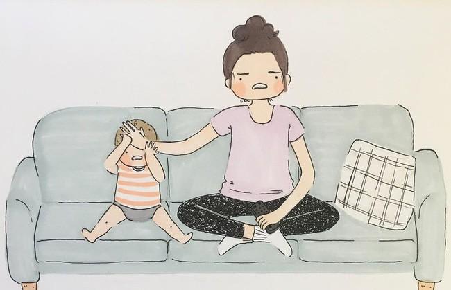 Mẹ nuôi con nhỏ nào cũng thấy mình trong những bức vẽ phác họa khoảnh khắc đời thường mà đầy xúc cảm này - Ảnh 6.