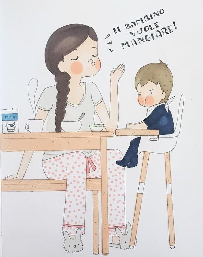 Mẹ nuôi con nhỏ nào cũng thấy mình trong những bức vẽ phác họa khoảnh khắc đời thường mà đầy xúc cảm này - Ảnh 8.