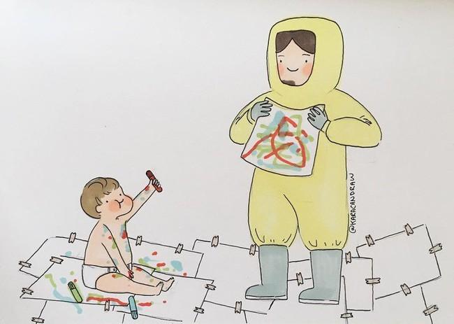 Mẹ nuôi con nhỏ nào cũng thấy mình trong những bức vẽ phác họa khoảnh khắc đời thường mà đầy xúc cảm này - Ảnh 9.